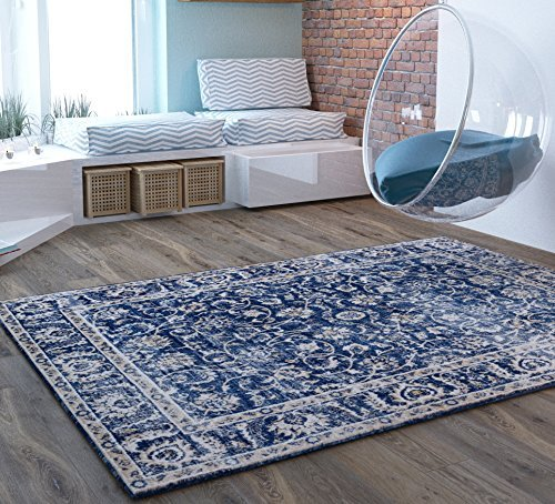 cool rugs blue traditional distressed 5 x 7 [ 5u00273 XKVDMVH